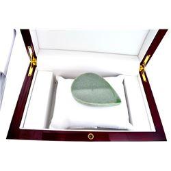 APP: 6.8k 619.00CT Pear Cut Cabochon Green Jade Gemstone