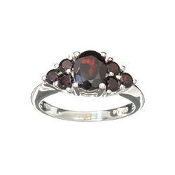 APP: 0.3k Fine Jewelry 2.40CT Almandite Garnet And Sterling Silver Ring