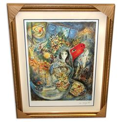 Marc Chagall (After) 'Bella' Museum Framed & Matted Print