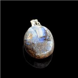 14.35CT Boulder Opal Sterling Silver Pendant