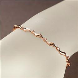 APP: 2.2k *Fine Jewelry 14KT Rose Gold, 0.15CT Round Brilliant Cut Diamond Bracelet (VGN A-306) (Vau