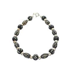Fine Jewelry Designer Sebastian, Bead And Sterling Silver Bracelet