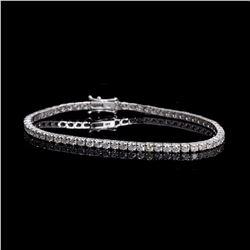 APP: 11.6k *Fine Jewelry 18 kt. White Gold, 5.03CT Round Brilliant Cut Diamond Tennis Bracelet (VGN