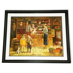 Lee Dubin- Framed Lithograph-Original Signature ''1932''