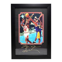 Rare Plate Signed Jordan And Kobe Photo Great Memorabilia