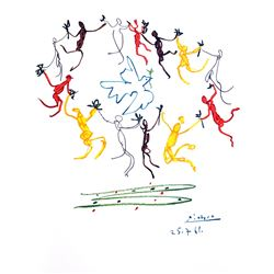 PABLO PICASSO Le Rhonde Lithograph, 308 of 500