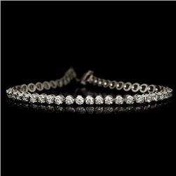 APP: 7k *Fine Jewelry 14KT White Gold, 3.00CT Round Brilliant Cut Diamond Bracelet (VGN A-38) (Vault