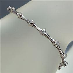 APP: 3.8k *Fine Jewelry 14KT White Gold, 1.00CT Round Brilliant Cut Diamond Bracelet (VGN A-301) (Va