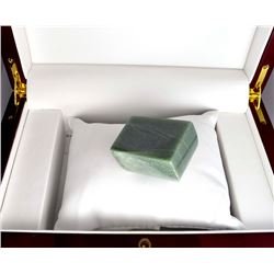APP: 0.5k 491.00CT Rectangle Cut Green Guatemala Jade Gemstone