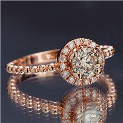 APP: 5k *Fine Jewelry 14KT Rose Gold, 0.91CT Round Brilliant Cut Diamond Ring (VGN A-201) (Vault V)