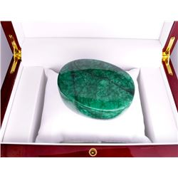 APP: 6.8k 1,315.50CT Oval Cut Cabochon Green Beryl Emerald Gemstone