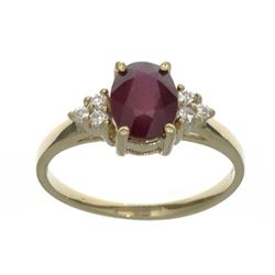 APP: 1.1k Fine Jewelry Designer Sebastian 14 KT Gold, 1.63CT Red Ruby And White Sapphire Ring
