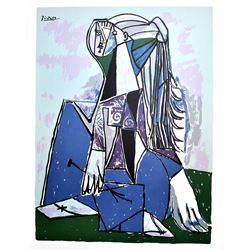 PABLO PICASSO The Thinker Lithograph, 102 of 500