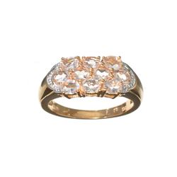 APP: 1.1k Fine Jewelry 1.50CT Oval Cut Morganite Over Rose Gold Sterling Silver Ring