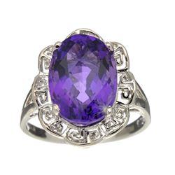 Fine Jewelry Designer Sebastian, Amethyst And Sterling Silver Ring