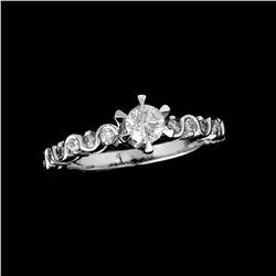 APP: 3.7k *Fine Jewelry 14KT White Gold, 0.75CT Round Brilliant Cut Diamond Ring (VGN A-52) (Vault V