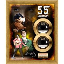 ELVIS PRESLEY ''Love me Tender/ Heartbreak Hotel 55th Anniversary'' Gold 45 RPM