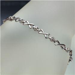APP: 2.3k *Fine Jewelry 14KT White Gold, 0.26CT Round Brilliant Cut Diamond Bracelet (VGN A-308) (Va