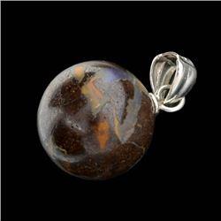 Boulder Opal Sterling Silver Pendant