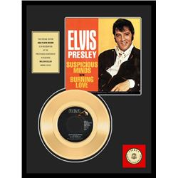 ELVIS PRESLEY ''Suspicious Minds'' Gold Record