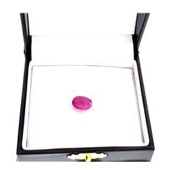 APP: 1k 4.00CT Oval Cut Ruby Gemstone