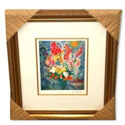Chagall (After) 'Original Bouquet' Museum Framed Giclee-Ltd Edn