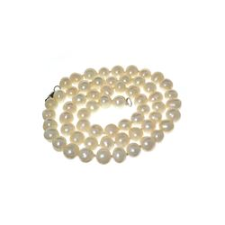 Gorgeous 18'' Off White Pearl Strand with Sterling Silver Clasp Necklace
