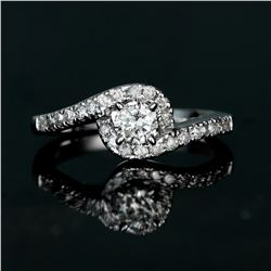 APP: 2.5k *Fine Jewelry 14 kt. White Gold, 0.50CT Round Brilliant Cut Diamond Engagement Ring (VGN A