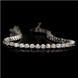 APP: 5.5k *Fine Jewelry 14KT White Gold, 2.00CT Round Brilliant Cut Diamond Bracelet (VGN A-37) (Vau