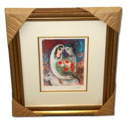 Chagall (After) 'Marriage' Museum Framed Giclee-Limited Edition