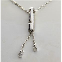 ''The New Genesis'' Diamond and Sterling Silver Necklace