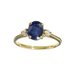 APP: 1k Fine Jewelry 14 KT Gold, 1.61CT Blue And White Sapphire Ring