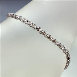 APP: 3.1k *Fine Jewelry 14KT White Gold, 0.55CT Round Brilliant Cut Diamond Bracelet (VGN A-303) (Va