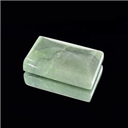 APP: 1.1k 132.00CT Rectangular Cut Cabochon Nephrite Jade Gemstone