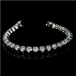 APP: 23.2k *Fine Jewelry 14 kt. White Gold, Custom Made, 10.00CT Round Brilliant Cut Diamond Bracele