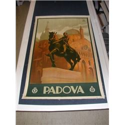 Padova by Marcel Dudovich on Linen