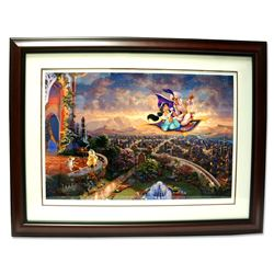 Rare Thomas Kinkade Original Ltd Edt Numbered Lithograph Plate Signed Framed ''Aladdin''