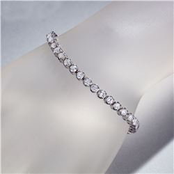 APP: 16.5k *Fine Jewelry 14KT White Gold, 7.00CT Round Brilliant Cut Diamond Bracelet (VGN A-43) (Va