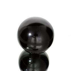 APP: 2.8k Rare 1,555.00CT Sphere Cut Black Agate Gemstone