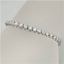 APP: 12k *Fine Jewelry 14KT White Gold, 4.00CT Round Brilliant Cut Diamond Bracelet (VGN A-41) (Vaul