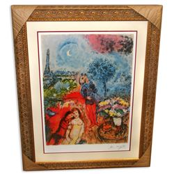 Marc Chagall (After) 'Serenade' Museum Framed & Matted Print