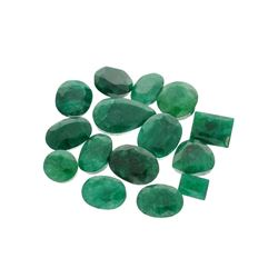 APP: 7.6k 100.70CT Various Shapes Green Emeral Parcel - Great Investment-