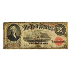 Nice 1917 $2 Red Seal Legal Tender Note
