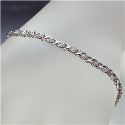 APP: 2.4k *Fine Jewelry 14KT White Gold, 0.29CT Round Brilliant Cut Diamond Bracelet (VGN A-304) (Va