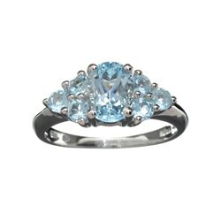 APP: 1.2k Fine Jewelry 2.37CT Light Blue Topaz And Platinum Over Sterling Silver Ring