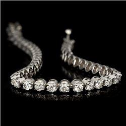 APP: 12k *Fine Jewelry 14KT White Gold, 5.00CT Round Brilliant Cut Diamond Bracelet (VGN A-40) (Vaul