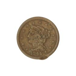 1844 Large Cent Coin