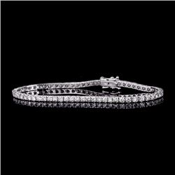APP: 8.2k *Fine Jewelry 18 kt. White Gold, Custom Made 4.03CT Round Brilliant Cut Diamond Tennis Bra