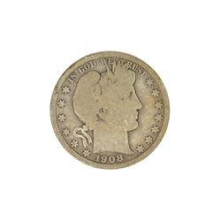 1908-S Barber Head Half Dollar Coin