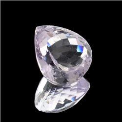 APP: 2.3k 19.50CT Pear Cut Amethyst Quartz Gemstone
